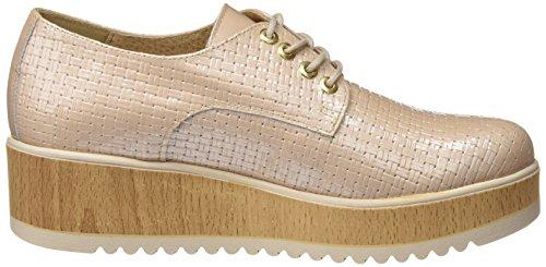 Sotoalto Me058087r2, Zapatos de Cordones Oxford para Mujer Beige (Beige)
