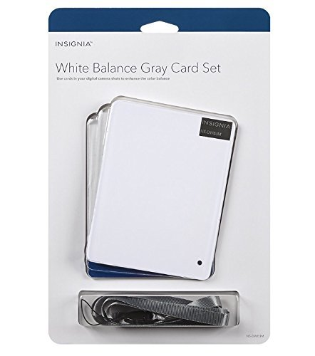 Insignia - White Balance Gray Card Kit (3-Count) - White/Gray/Black by Insignia