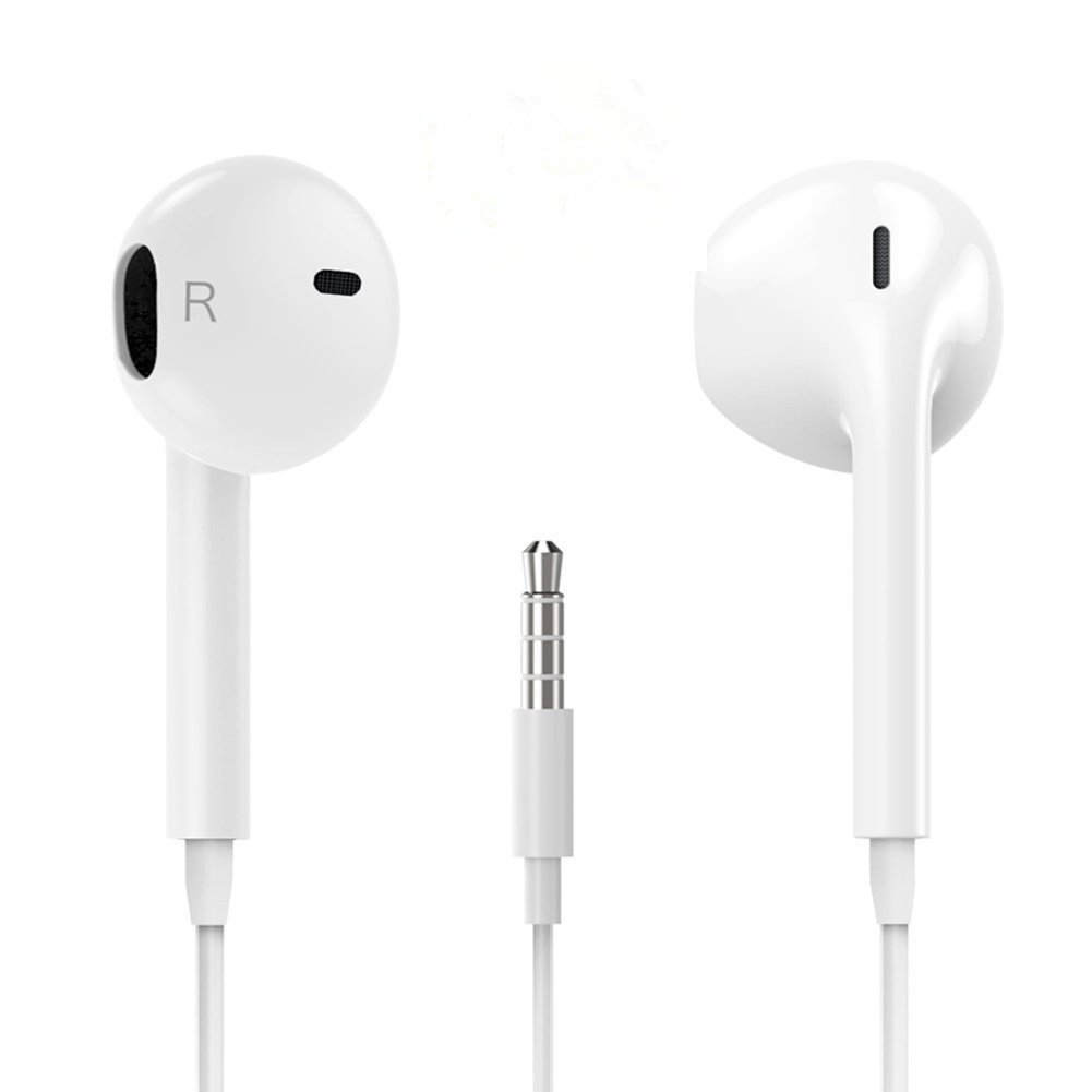 Earbuds/Headphones with Stereo Mic&Remote Control for iPhone iPad iPod Samsung Galaxy and More Android Smartphones
