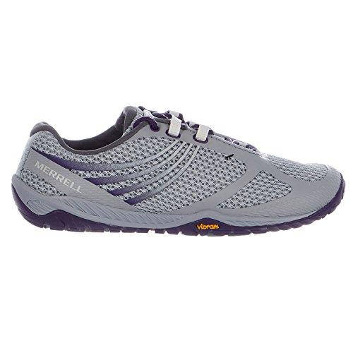 Merrell Womens Pace Glove 3 Trail Running ShoeLight GreyParachute Purple9 M US