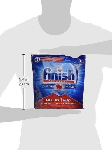 Finish All in One - Pastillas para lavavajillas todo en 1, limón, 155 pastillas (5 packs x 31 pastillas): Amazon.es: Salud y cuidado personal