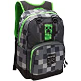 JINX Minecraft Creepy Creeper Kids Backpack (Grey, 17