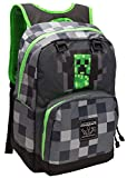 JINX Minecraft Creepy Creeper Kids School Backpack, Gray, 17'