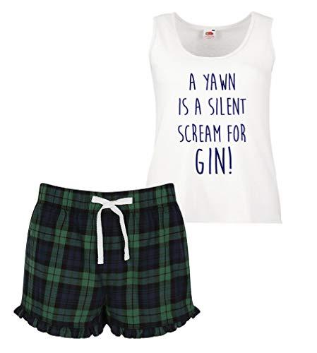 Une Silent Volants Femmes A Vert Court Ensemble Limited À Gin Scream Écossais 60 Bleu Second Pour Yawn Pyjama Makeover Ou Rouge wgXXYA