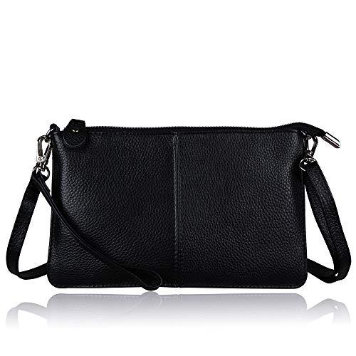 Befen Women's Genuine Smartphone Leather Wristlet Crossbody Wallet Purses and Handbags Mini...