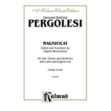 Magnificat: For SATB with SATB Solo and Orchestra with Latin and English Text (Choral Score) (Kalmus Edition)