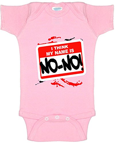 New Way A005 - Infant Baby Onesie Bodysuit I Think My Name Is No-No! 24M Light Pink