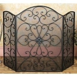 Fantastic Deal! Deco 79 21626 Metal Fire Screen Ultimate in Fire Protection Category