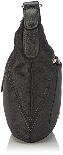 Gerry Weber Shine Shoulder Bag - Bolso de hombro para mujer, color negro (black), talla 23x24x1 cm (B x H x T)