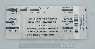 Montreal Canadiens Tickets (New York Rangers Vs Montreal Canadiens 2014 Stanley Cup Playoffs Game 3 Ticket B)