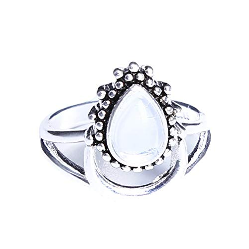 - andy coolSterling Spinning Ring.Fashion Moonstone Iolite & Moon Thumb/Finger Worry Spinner Ring,Size 6 Useful and Practical