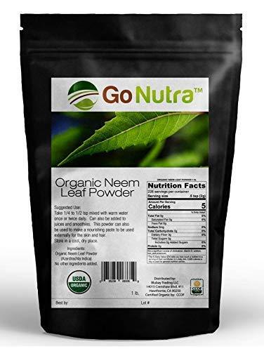 Amazing India Neem | Organic India Neem | Neem Powder 1 lb | Neem Powder for Hair Face Skin Teeth | Azadirachta Indica ()