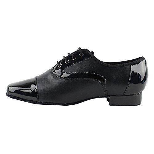 """50 Shades Of Men Standard 1 """"Heel Dance Kleid Schuhe Sammlung (Breite Breite verfügbar): Komfort Ballsaal, Standard, glatt, Latein, Salsa, Kunst von Party Party 916102 Schwarzes Patent und Leder"""