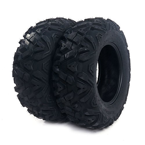 MILLION PARTS Front Set of 2 All Terrain ATV UTV Tires 25
