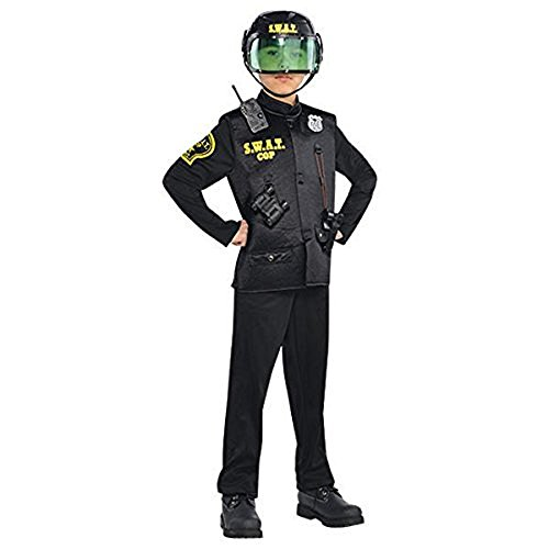 Toddler Swat Officer Costume - Swat Officer With Helmet Child Costume