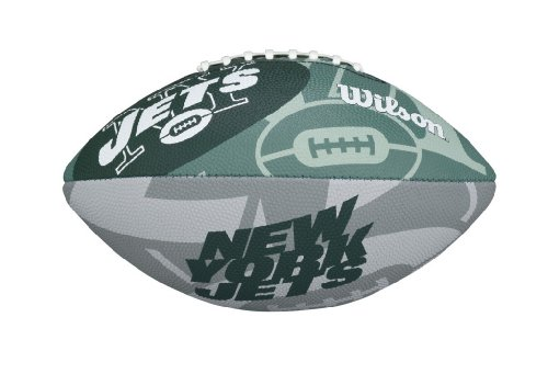 Football York Logo New Jets (Wilson NFL Junior Team Logo Football (New York Jets))