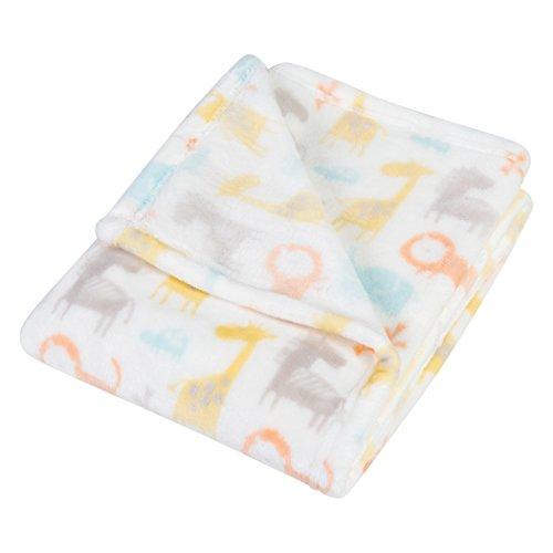 - Trend Lab Plush Baby Blanket, Orange Crayon Jungle