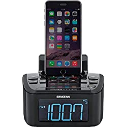 Sangean RCR-28 AM/FM-Stereo/Aux-In Digital Tuning Clock Radio with Lightning Connector Dock for iPhone 5/5s/5c/6/6Plus/6s/6sPlus
