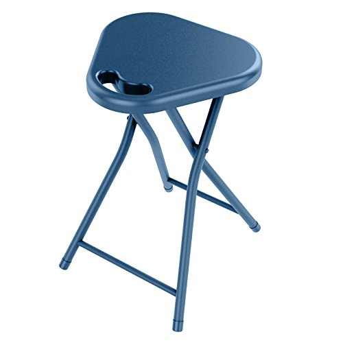 dar Living Folding Stool with Handle, Moonlight Blue (2-Pack)