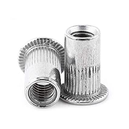Flat Head Metric Threaded Blind Rivet Nut Insert Rivnut Nutsert Screw Stainless Steel M3/M4/M5/M6/M8(M3)