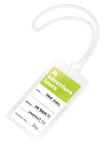 (GBC(R) Clear Laminating Pouches, Luggage Tag with Loop, 5 Mil, 2 1/2in. x 4 1/4in, Pack of 50)