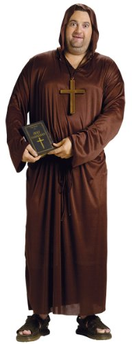 [Drunk Monk Costume - Plus Size - Chest Size 48-53] (Plus Size Hooded Monk Robe Costumes)