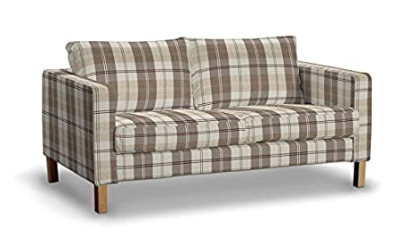 saustark design cover for ikea karlstad 2 seat sofa attachment dundee checked beige gmbh munchen