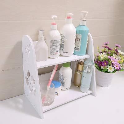 浴室 カウンター ラック 棚化粧品 フレーム 収納棚 プラスチック 防 -9 [並行輸入品] B07SFZRMHH