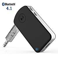 Giveet Bluetooth Receiver with HD Mic, Mini Wireless Audio Aux Adapter for Car Kits Hands-free Calling Home Stereo, Wired Headphones Speakers Music Streaming Sound System, CSR Advanced Bluetooth V4.1