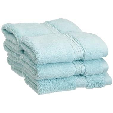Superior 900 Gram Egyptian Cotton 6-Piece Face Towel Set, Seafoam