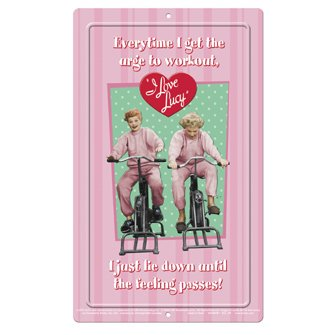 - Unforgettable Licensing I Love Lucy Workout Mini Tin Sign