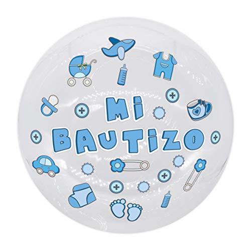 EuroFiestas Globo Burbuja Mi Bautizo en Azul