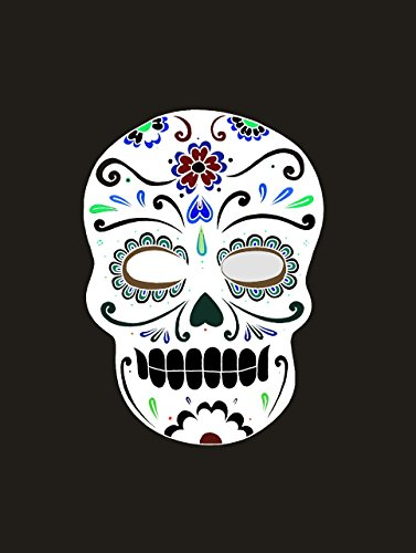 Mexican Skull Decor Sugar POSTER Halloween home wall art print A3 for Home Room -