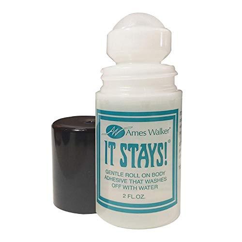 Ames Walker AW It Stays! Body Adhesive Roll on Body Glue Wig Bra Hosiery (Clothing) Glue
