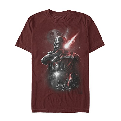 Darth Dark Lord Vader - Star Wars Men's Dark Lord Darth Vader Graphic Shirt, Cardinal XX-Large