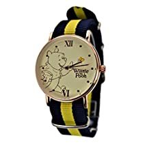 Disney Exclusive Winnie The Pooh Watch Rose Gold-Tone XL Dial with Multi-Color Band.Limited Edition of 2000. (WINNIE THE POOH)