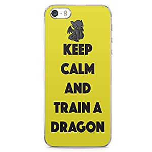 Loud Universe Train your Dragon iPhone 5 / 5s Case Yellow Type iPhone 5 / 5s Cover with Transparent Edges