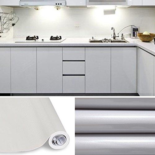 Kinlo 10*0.61M Papier Peint Auto-Adhésif Gris Pour Armoire De