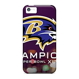 Scratch Protection Hard Phone Cases For Iphone 5c (GYB12665YakU) Provide Private Custom High-definition Baltimore Ravens Pictures