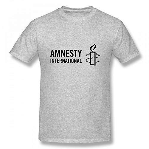 Amnesty International Customizable Personalized Men's T-Shirt Tee Grey