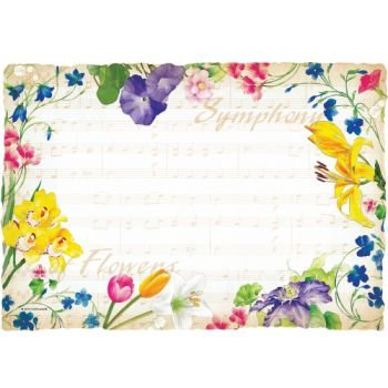 Hoffmaster Symphony Flowers Paper Placemats 50 Per Pack