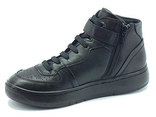 Geox NIMAT D540PA Black - Zapatillas de Piel para mujer Negro negro negro