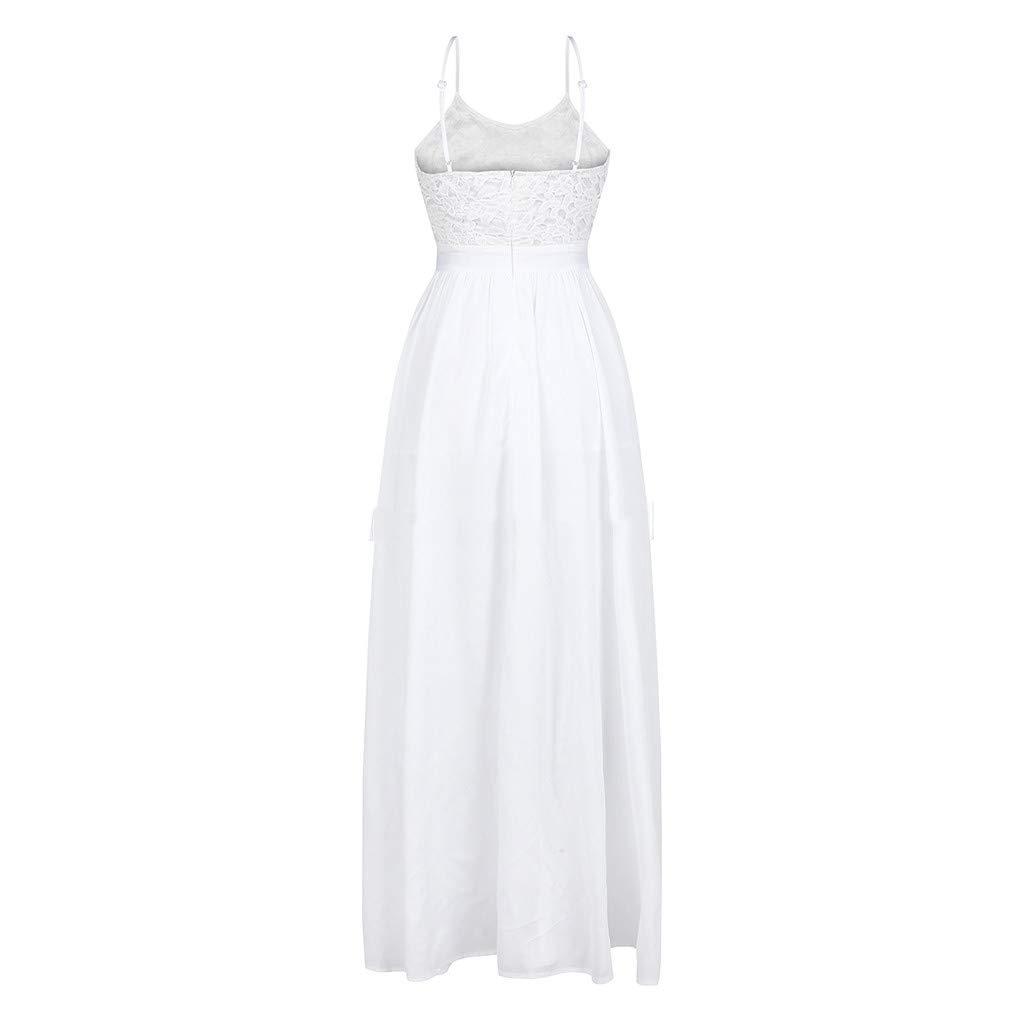 Rakkiss Women Dress Solid Dress Lace Skirt Sling Skirt Elegent Dress High Waist Dress