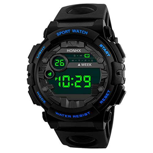 Electronic Sports Watch for Men,Futemo Digital LED Sport Outdoor Multifunction Chronograph Gift Watch Under 20 Dollars