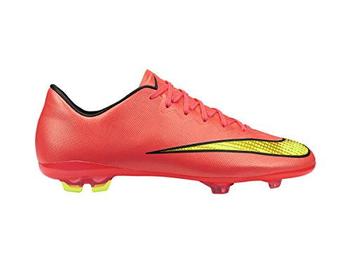 Nike JR MERCURIAL VAPOR X FG KIDS SOCCER Hyper Punch/Black/Volt/Mtlc Gold Coin US sz. 1Y by nike