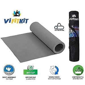 VIFITKIT Yoga Mat with Free Yoga mat Bag Anti Skid