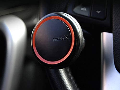 Black and Orange Car,SUV and MUV AutoFurnish Puzzle N Power Steering Power Spinner Knob