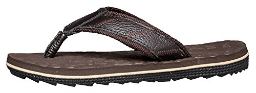 Flip Brown JIANJIANJIAO Dark Sandals Casual Leather Flop Men's PWgOIqWF