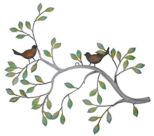 24 in Branches w/Birds Decorative Metal Wall Decor Sculpture Kitchen Home ()