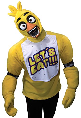 40's Inspired Halloween Costumes (Rubie's Men's Five Nights At Freddy's Chica Costume, Multi,)